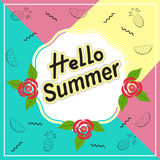 Здравствуйте! перемещение лета Каллиграфия тенденции Концепция летнего времени Стоковые Изображения