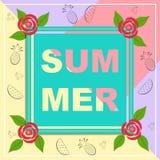 Здравствуйте! перемещение лета Каллиграфия тенденции Стоковые Изображения RF