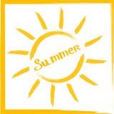 Здравствуйте! состав литерности лета Вдохновляющая цитата с Ханом Стоковое Фото