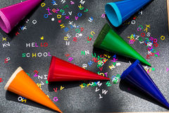 Здравствуйте! школа, написанная на доске Стоковое Изображение