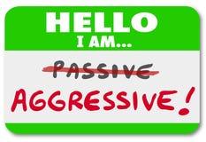 Здравствуйте! я агрессивен против пассивной ориентации действия или бездействия Стоковые Фотографии RF