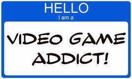 Здравствуйте! я наркоман видеоигры иллюстрация штока