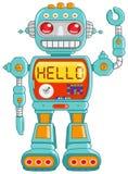 здравствулте! робот Стоковые Фото