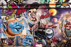 Злые граффити фотографа Стоковые Изображения RF