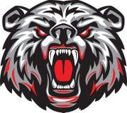 Злющий страшный медведь с открытым ртом иллюстрация штока