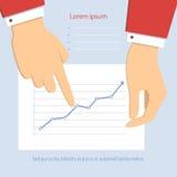 диаграмма бизнесмена указывая к Стоковые Изображения