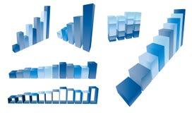 диаграмма в виде вертикальных полос 3d Стоковые Изображения RF