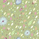 диаграмма малое смычков букетов картины цветка безшовное Стоковая Фотография
