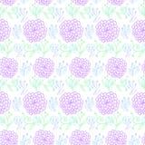 диаграмма малое смычков букетов картины цветка безшовное Стоковые Фото