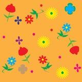 диаграмма малое смычков букетов картины цветка безшовное Стоковые Изображения