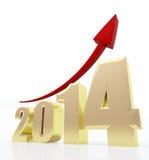 диаграмма 2014 роста Стоковые Изображения