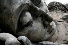 диаграмма усаживание Будды Крупный план стороны ` s Будды Стоковое Фото