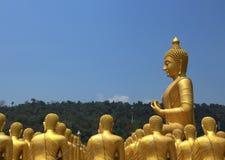 диаграмма усаживание Будды Стоковое фото RF