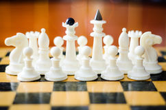 диаграммы высокое изображение шахмат черноты предпосылки 3d представляют разрешение Стоковая Фотография RF