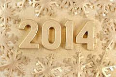 диаграммы 2014 год золотые Стоковые Изображения