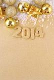 диаграммы 2014 год золотые стоковое фото