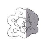 диаграммы значок конспектов пятен Иллюстрация штока