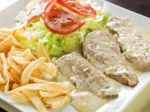 Иберийский филей свинины с соусом перца стоковые фотографии rf
