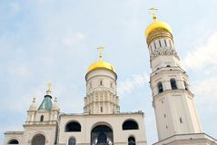 Иван большая колокольня в Москве Кремле Стоковая Фотография