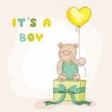 ливень карточки младенца прибытия иллюстрация вектора
