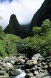 игла maui iao Гавайских островов сценарная стоковая фотография rf