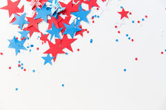 Играет главные роли confetti на американской партии Дня независимости Стоковая Фотография RF