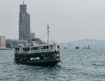 Играйте главные роли док парома на пристани от гавани Виктории стоковое изображение rf