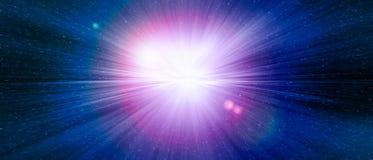 Играйте главные роли взрыв строба голубой в галактике вселенной Стоковые Фото