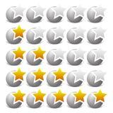 Играйте главные роли шаблон оценки для обзора, удовлетворения клиента и simil бесплатная иллюстрация