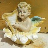 играть арфы ангела Стоковые Изображения