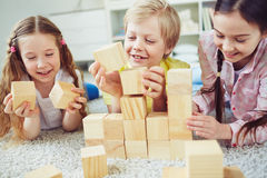 играть блоков деревянный Стоковые Фотографии RF