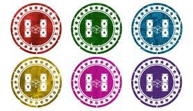 Играть в азартные игры значок, поет, иллюстрация Стоковые Изображения RF