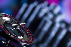Играть в азартные игры в казино Предпосылка темы казино стоковая фотография