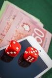 играть в азартные игры он-лайн Стоковые Фотографии RF