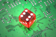 играть в азартные игры он-лайн Стоковое Фото