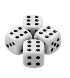 Играть в азартные игры dices на белой предпосылке Стоковое Изображение RF