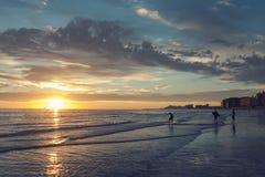 Играть в прибое моря Cortez Стоковое Фото