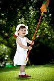 Играть в саде Стоковая Фотография