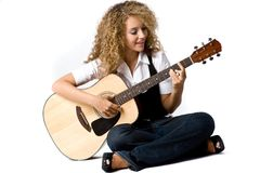 Играть гитару Стоковое фото RF