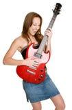 играть гитары девушки Стоковое фото RF