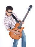 играть гитары мальчика Стоковые Изображения RF