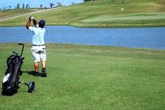 играть гольфа Стоковые Изображения