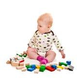играть девушки кирпичей младенческий Стоковые Фотографии RF