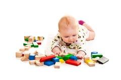 играть девушки кирпичей младенческий Стоковое Изображение RF