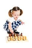 играть девушки шахмат Стоковая Фотография RF