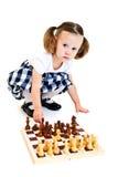 играть девушки шахмат Стоковое Изображение