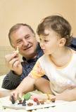 играть деда внучки Стоковое фото RF