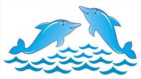 играть дельфинов Иллюстрация штока