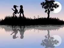 играть детей внешний Стоковое Фото