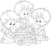 играть детей кирпичей Стоковое Изображение RF